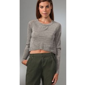 Dolce Vita Cropped Baby Alpaca elbow hole sweater